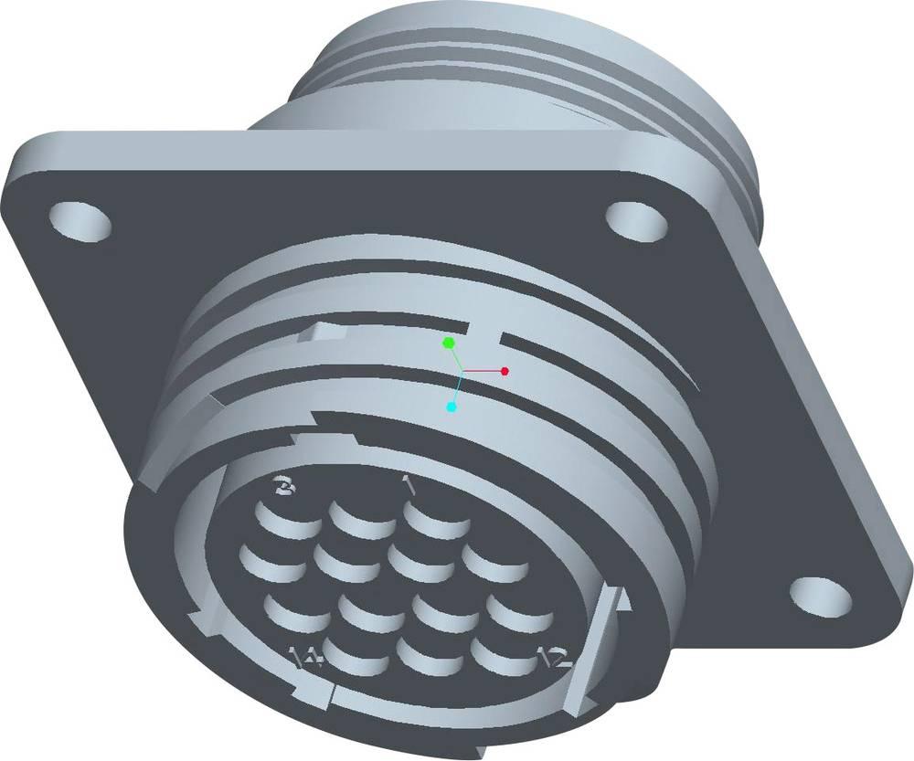 CPC ohišje vtičnice s pravokotno prirobnico, poli: 17 211103-1 TE Connectivity 1 kos
