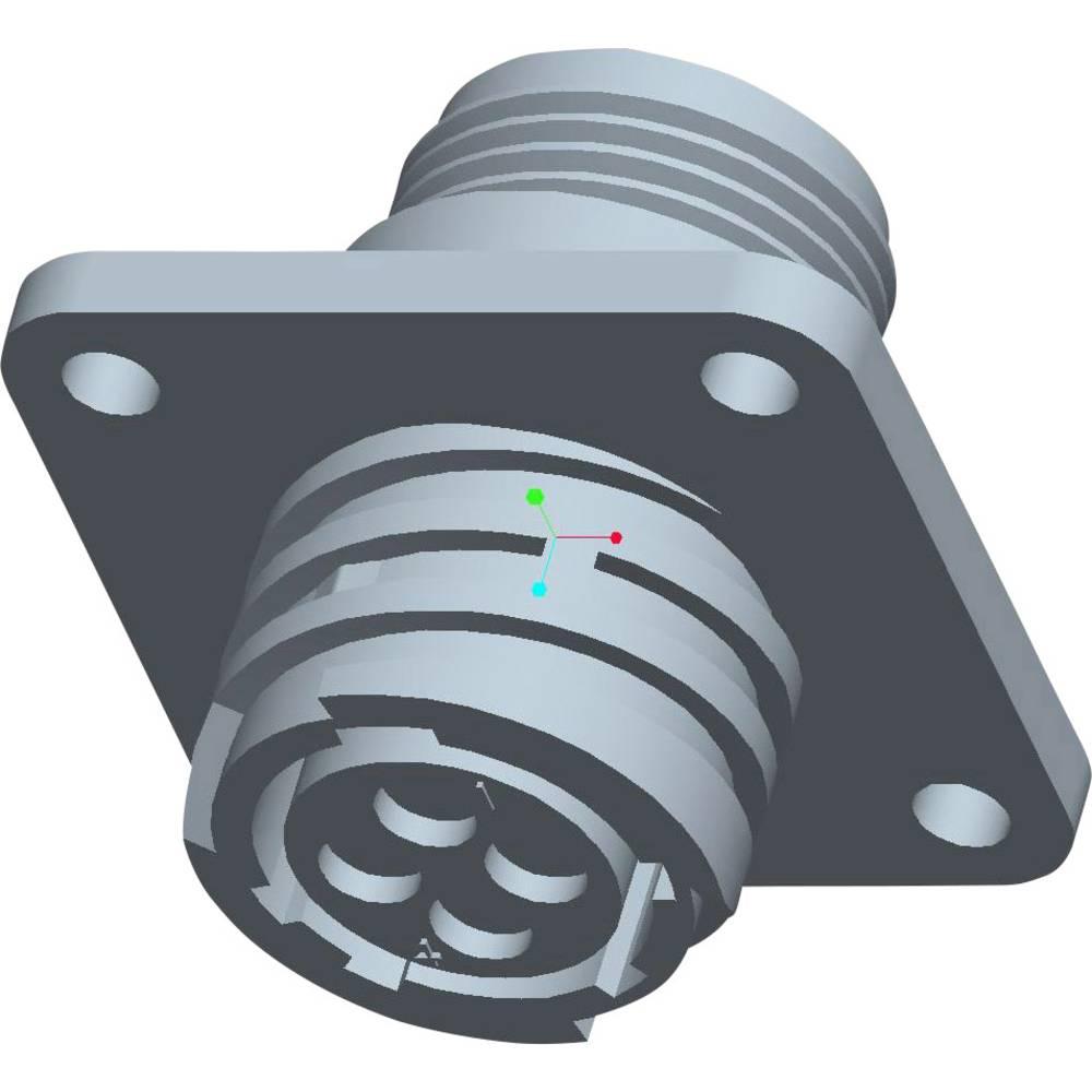 CPC ohišje vtičnice s pravokotno prirobnico, poli: 4 206430-1 TE Connectivity 1 kos