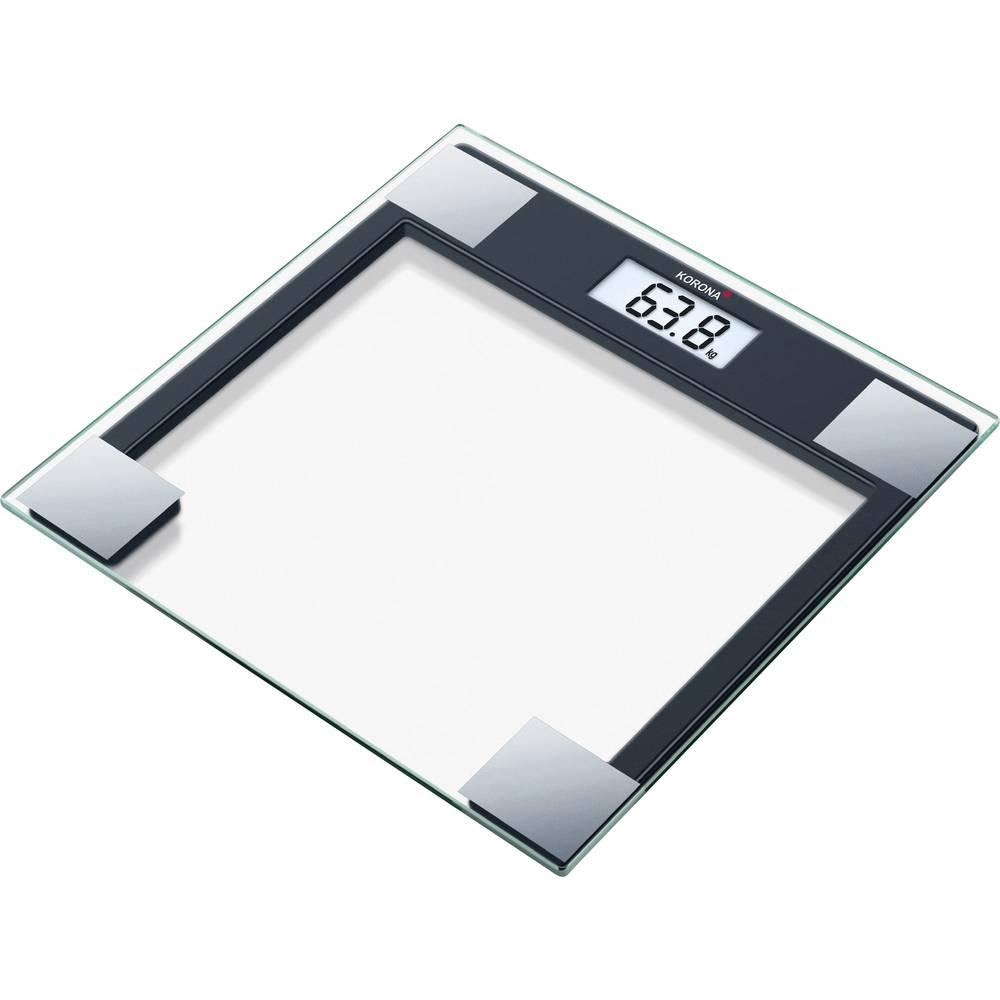 Digital Bathroom Scales Korona Gabriela Weight Range 150 Kg Gl Black