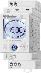 Timer til DINskinne Driftsspænding (num): 230 V/AC Finder 12.51.8.230.0000 1 x skiftekontakt 16 A 250 V/AC Dagsprogram, Ugeprogr