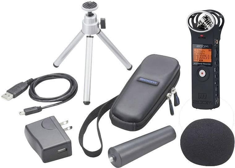 Zoom H1 Matt Black Bundle Aph 1 Portable Audio Recorder Black