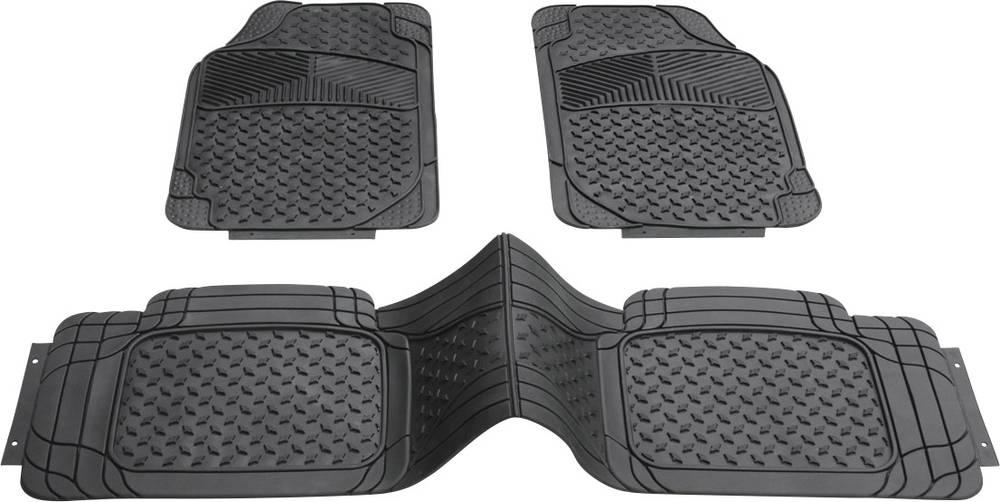 Univerzalni tepihi s centralno zaščito PVC črni DINO