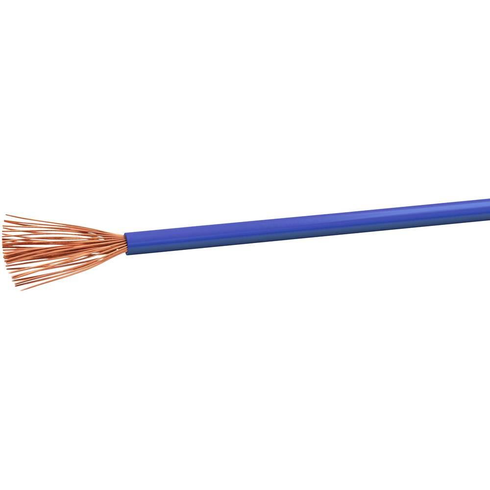 Gumirani vodnik H07V-K 1 x 2.5 mm modre barve VOKA Kabelwerk H07VK25BL 100 m