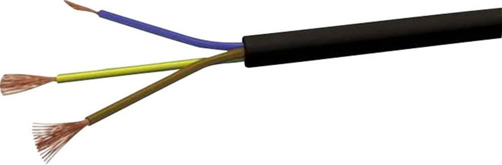 Gumirani vodnik H03VV-F 3 x 1 mm črne barve VOKA Kabelwerk H05VVF3X1 100 m
