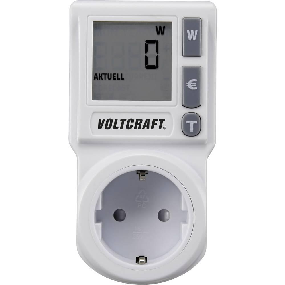 Mjerač energetskih troškova VOLTCRAFT EM 1000BASIC DE ugrađena dječja zaštita, podesiva strujna tarifa, TRMS, prognoza troškova