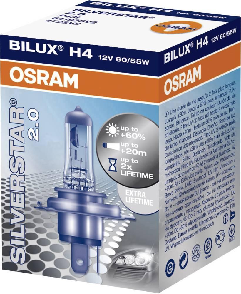 halogen lyskilde OSRAM Silverstar 2.0 H4 55/60 W