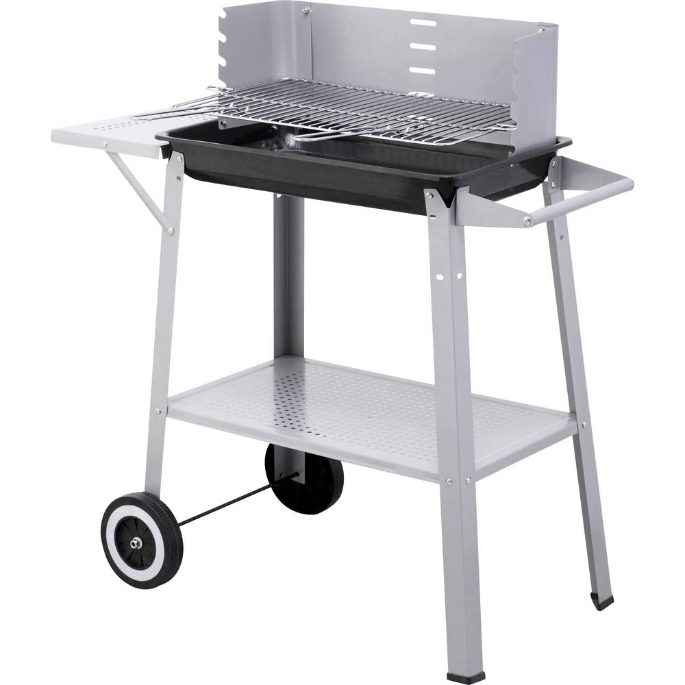 Charcoal Electric Grill Tepro Garten Grillwagen Alamo With Wind