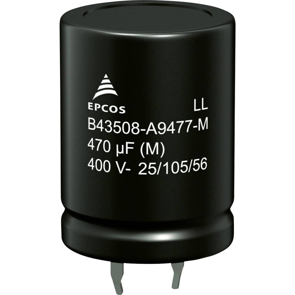 Elektrolitski kondenzator SnapIn 330 µF 450 V 20 % (promjer x V) 25 mm x 55 mm Epcos B43508A5337M000 520 kom.