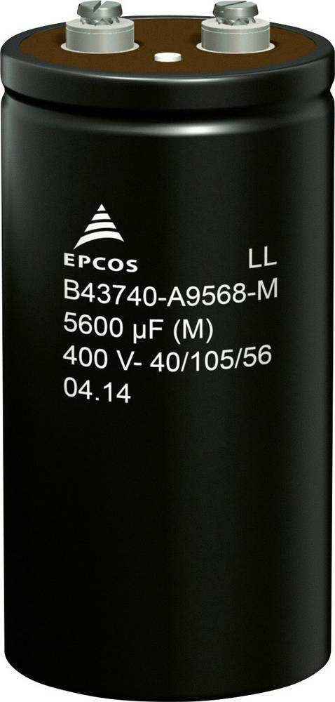 Elektrolitski kondenzator, vijčani priključak 5600 µF 400 V 20 % (promjer x V) 76.9 mm x 143.2 mm Epcos B43740A9568M000 32