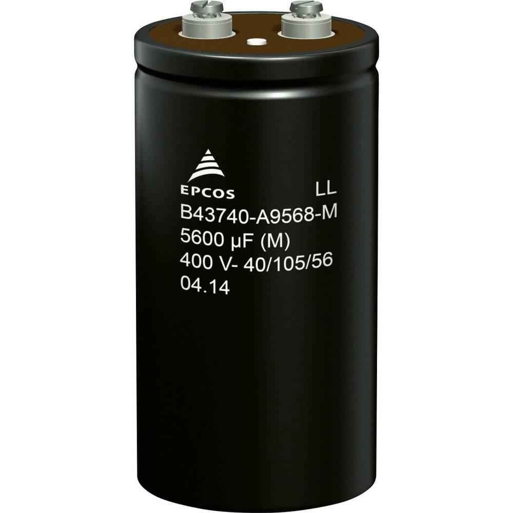 Elektrolitski kondenzator, vijčani priključak 2700 µF 400 V 20 % (promjer x V) 64.3 mm x 105.7 mm Epcos B43740A9278M000 50