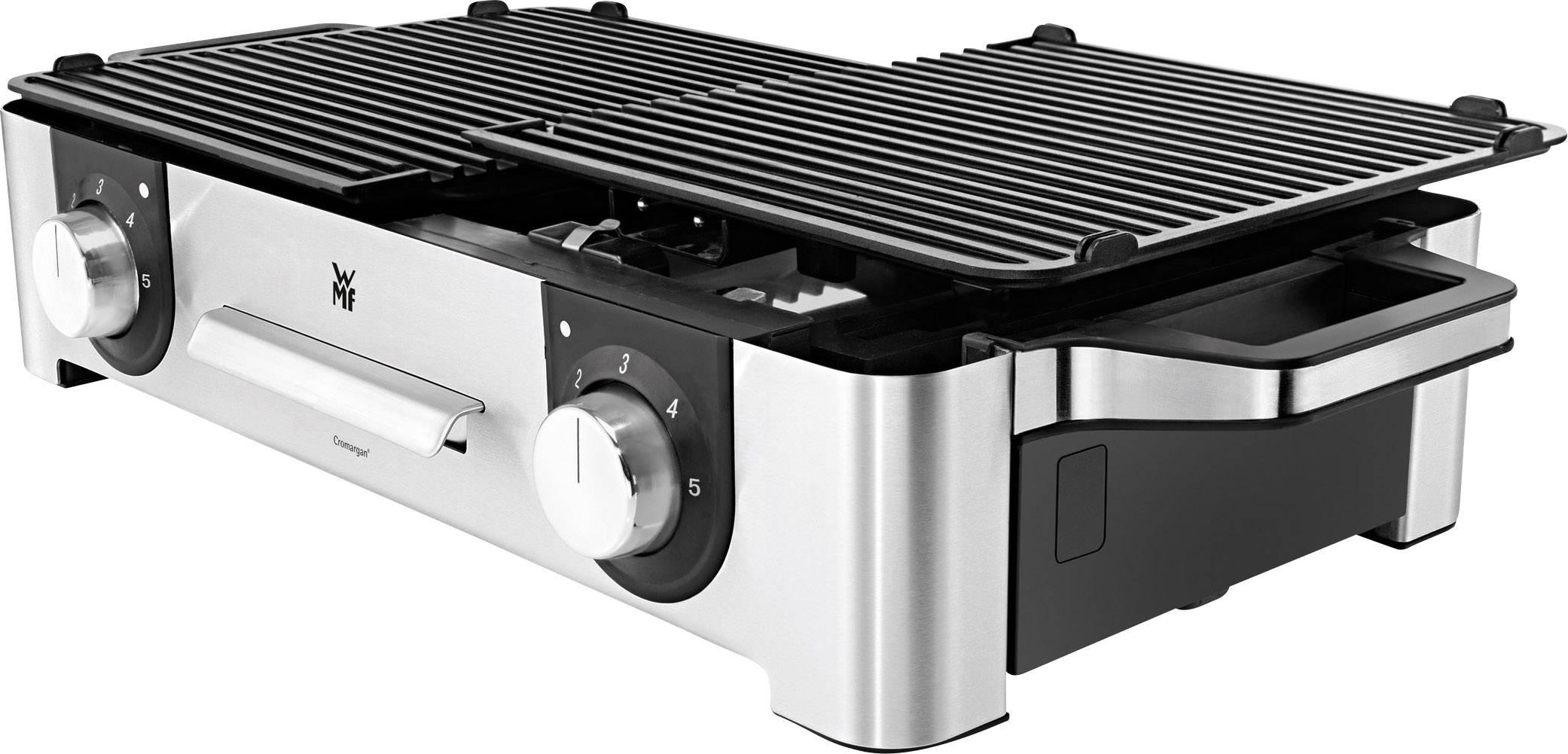 WMF Lono grill da tavolo anti detenzione rivestito a costine 2000 Watt grillfäche circa 27x41cm