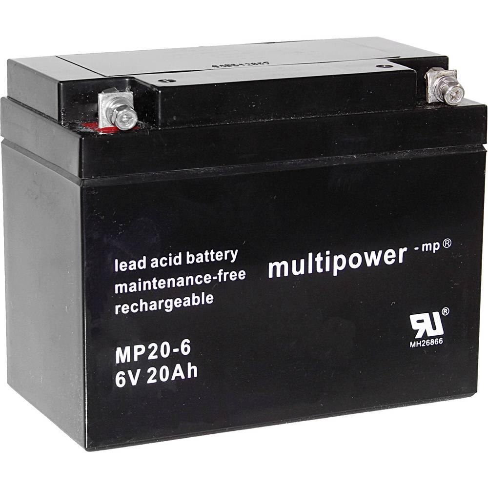 Olovni akumulator 6 V 20 Ah multipower MP20-6 A9621 olovo (AGM) (Š x V x DB) 157 x 125 x 83 mm M5 vijčani priključak bez održava