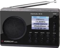 Radio DAB+ Albrecht DR 70 zunanji,žepna svetilka,črn