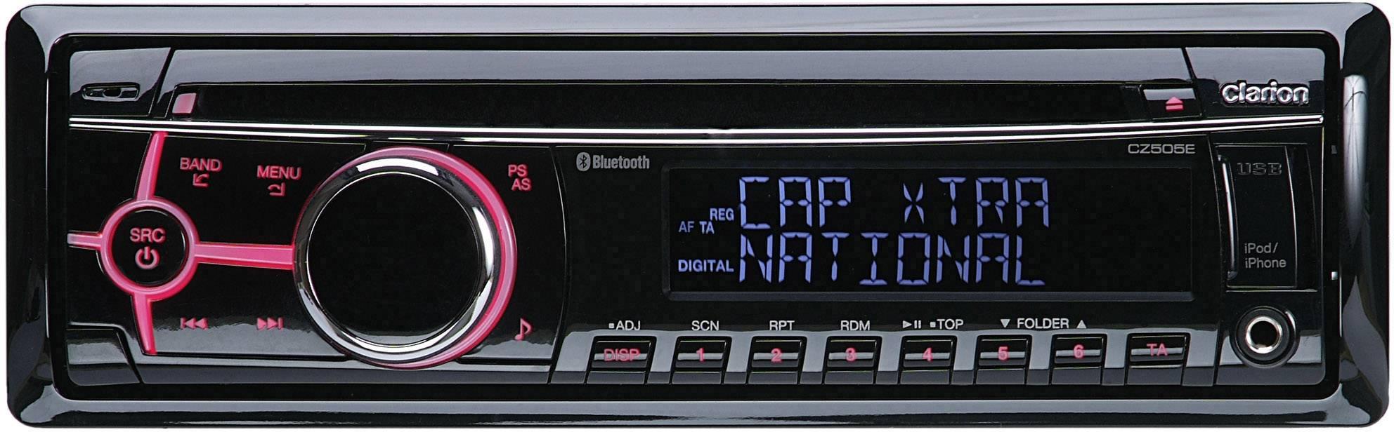 Clarion CZ505E Car stereo DAB+ tuner, Bluetooth handsfree