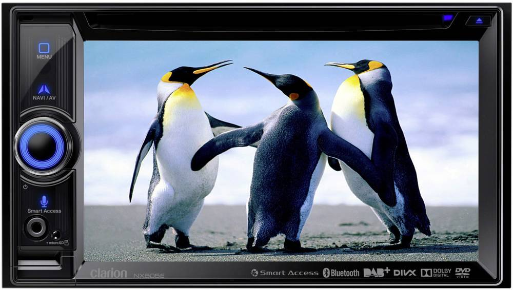 Dvostruki DIN prijamnik s ekranom Clarion NX505E