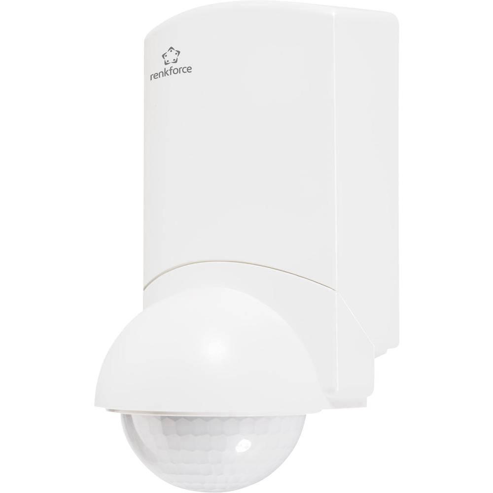 Nadžbukni PIR senzor pokreta 1362922 renkforce 360 ° relej bijela IP55