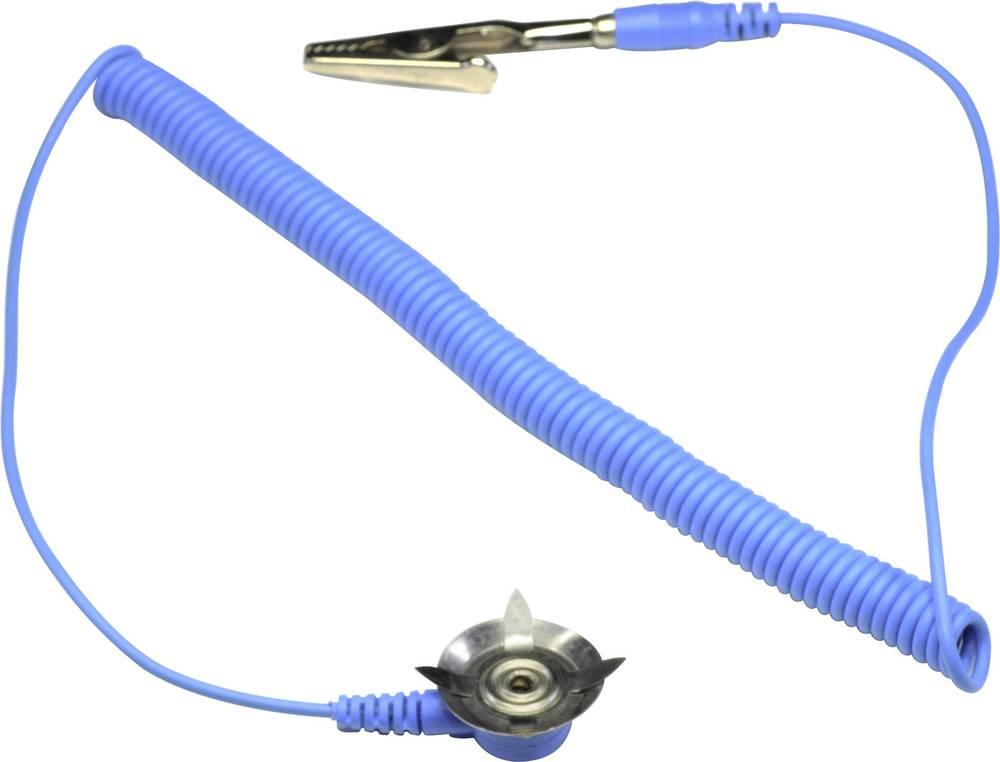ESD ozemljitveni kabel za podloge 3.05 m Conrad Components EkA-305-AD-S/K krokodil sponka