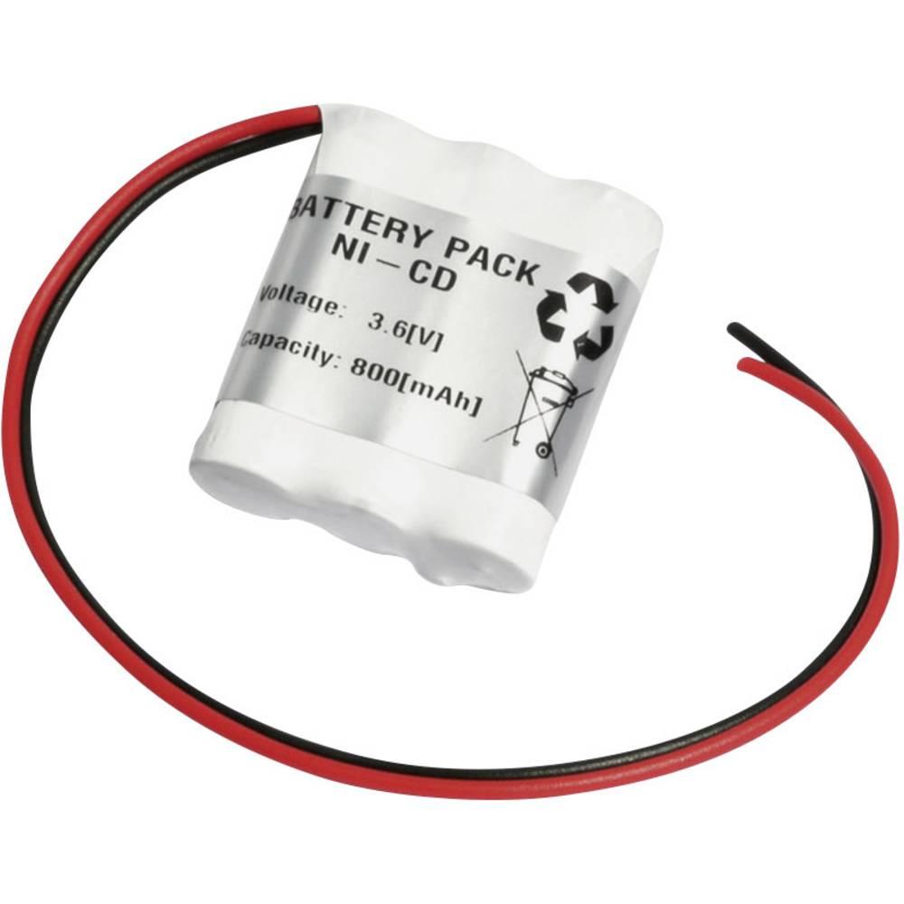 Emmerich akumulator za hitno svijetlo 800 mAh s kabelom 3.6 V 36AA800R AA 800, s kabelom