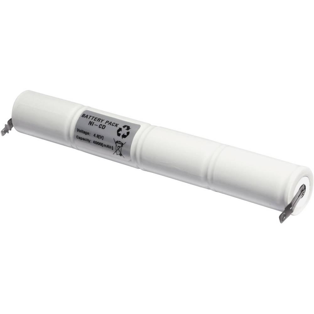 Emmerich akumulator za hitno svijetlo 4000 mAh s U repovima za lemljenje 4.8 V 48D4000S D 4000, s U repovima za lemljenje