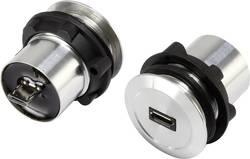 TRU COMPONENTS Micro USB-01 USB 2.0 Silver 1 st