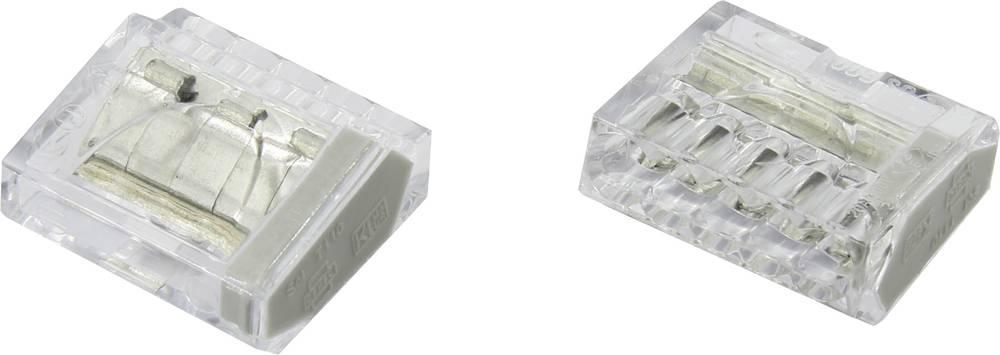 Vtične klešče, toge 0.25-2.5 mm , kontakti: 5 Conrad PC255X-CLG 25 kosov, prozorne