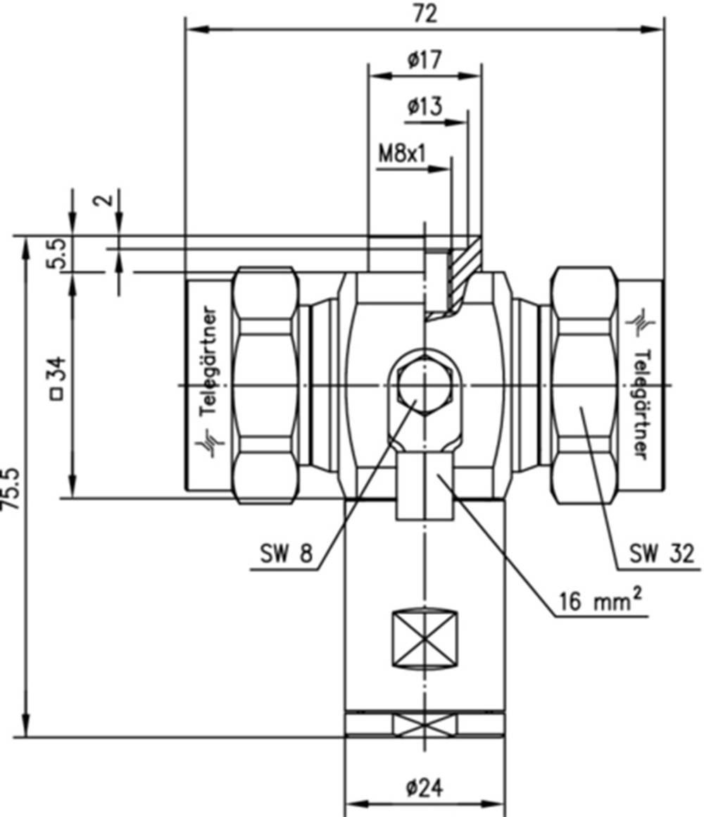 Overspændingsafleder Telegärtner J01125A0022 1 stk