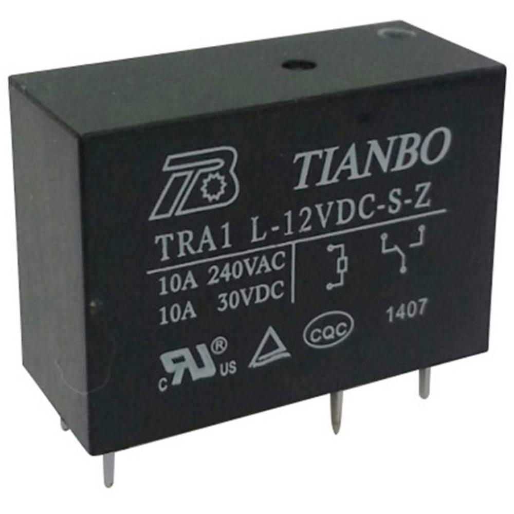 Printrelæ 12 V/DC 12 A 1 x skiftekontakt Tianbo Electronics TRA1 L-12VDC-S-Z 1 stk