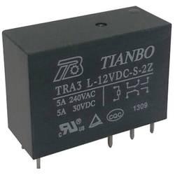 Printrelæ 5 V/DC 8 A 2 x omskifter Tianbo Electronics TRA3 L-5VDC-S-2Z 1 stk