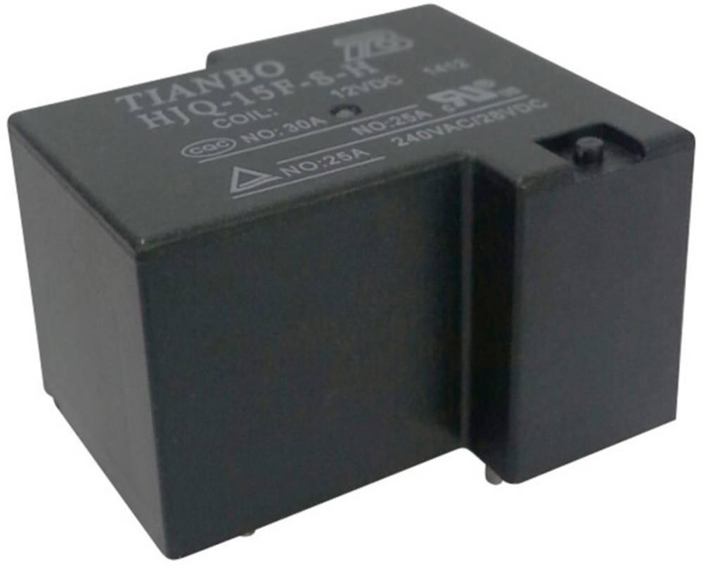 Printrelæ 12 V/DC 30 A 1 x sluttekontakt Tianbo Electronics HJQ-15F-S-H 12VDC 1 stk