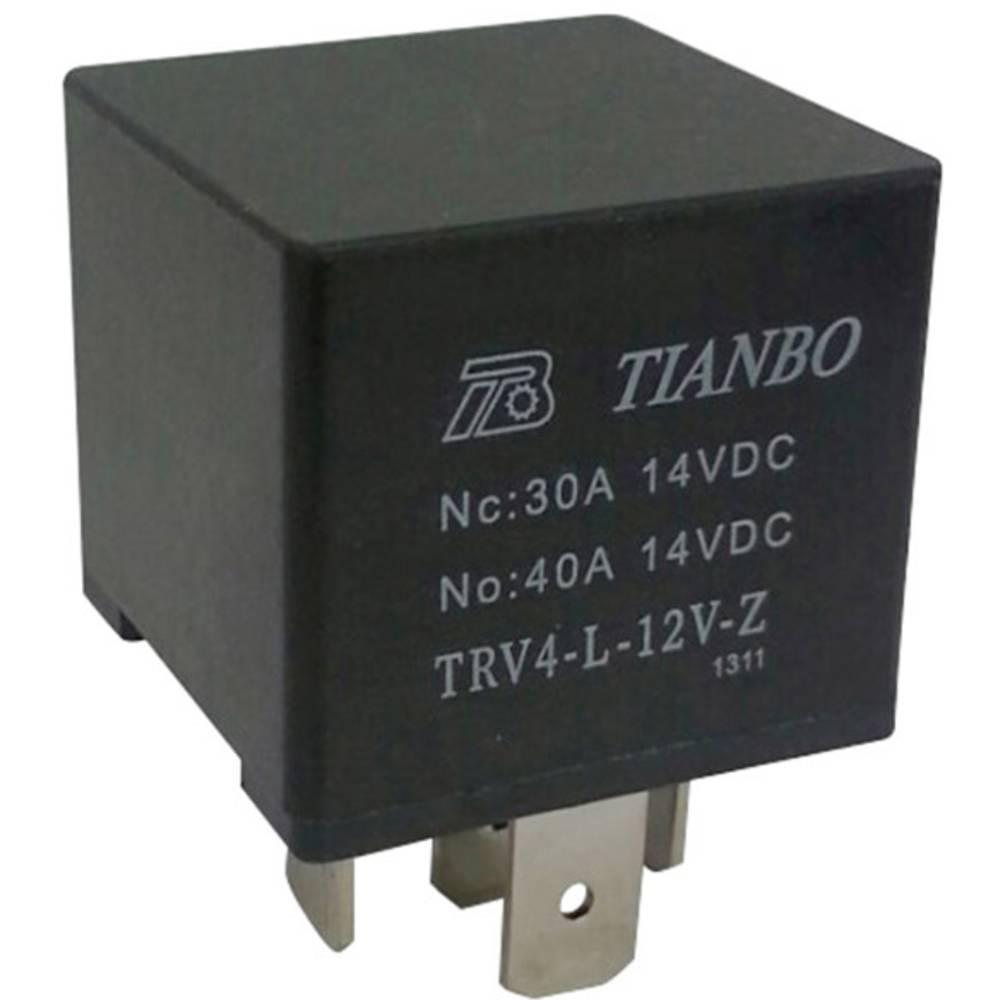 Køretøjsrelæ 12 V/DC 1 x skiftekontakt Tianbo Electronics TRV4 L-12V-Z