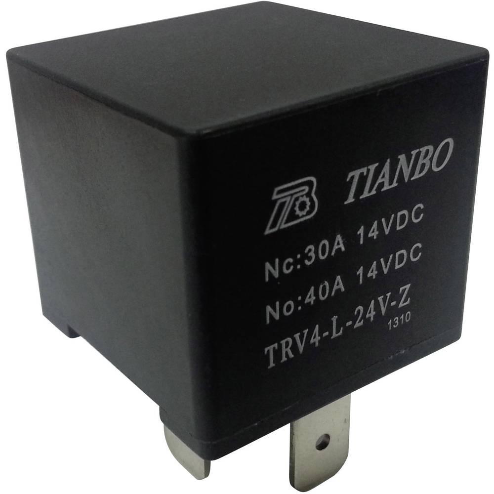 Køretøjsrelæ 24 V/DC 1 x skiftekontakt Tianbo Electronics TRV4 L-24V-Z