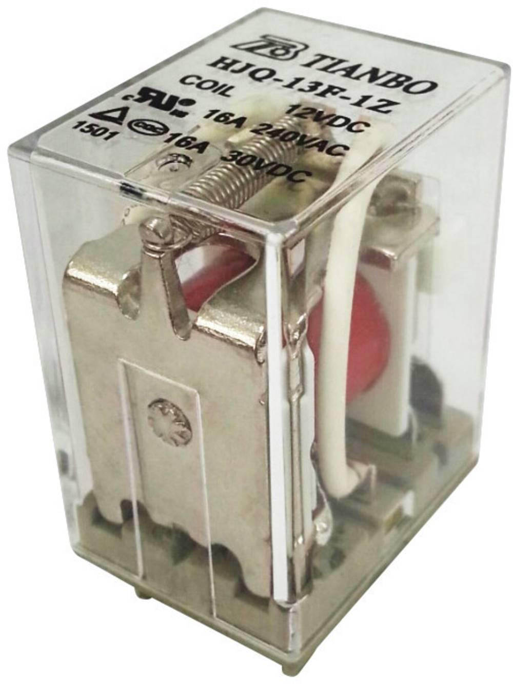 Stikrelæ 230 V/AC 20 A 1 x skiftekontakt Tianbo Electronics HJQ-13F-1Z -220/240VAC 1 stk
