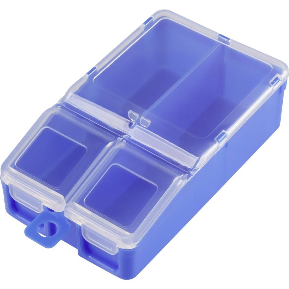 Sortirna škatla (D x Š x V) 100 x 60 x 30 mm št. predalov: 2 fiksna pregraditev