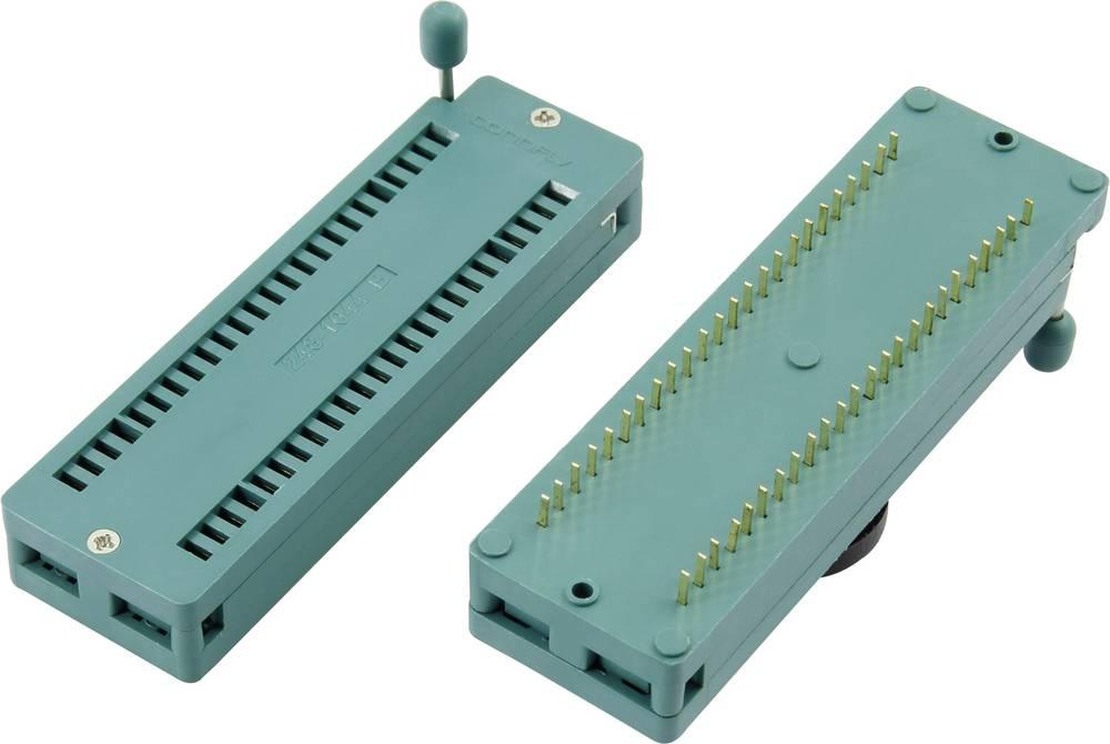 IC-testsokkel Rastermål: 7.62 mm Poltal: 28 1 stk
