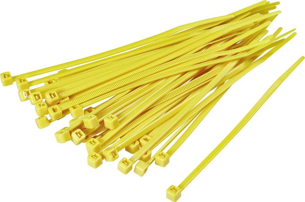 Kabelske vezice 155 mm rumene barve KSS CV150S 100 kos