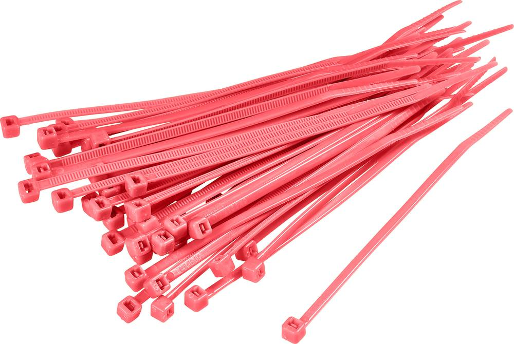 Kabelske vezice 150 mm rdeče barve KSS CV150 100 kos