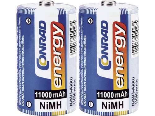 Conrad energy HR20 Oplaadbare D batterij (mono) NiMH 11000 mAh 1.2 V 2 stuk(s)