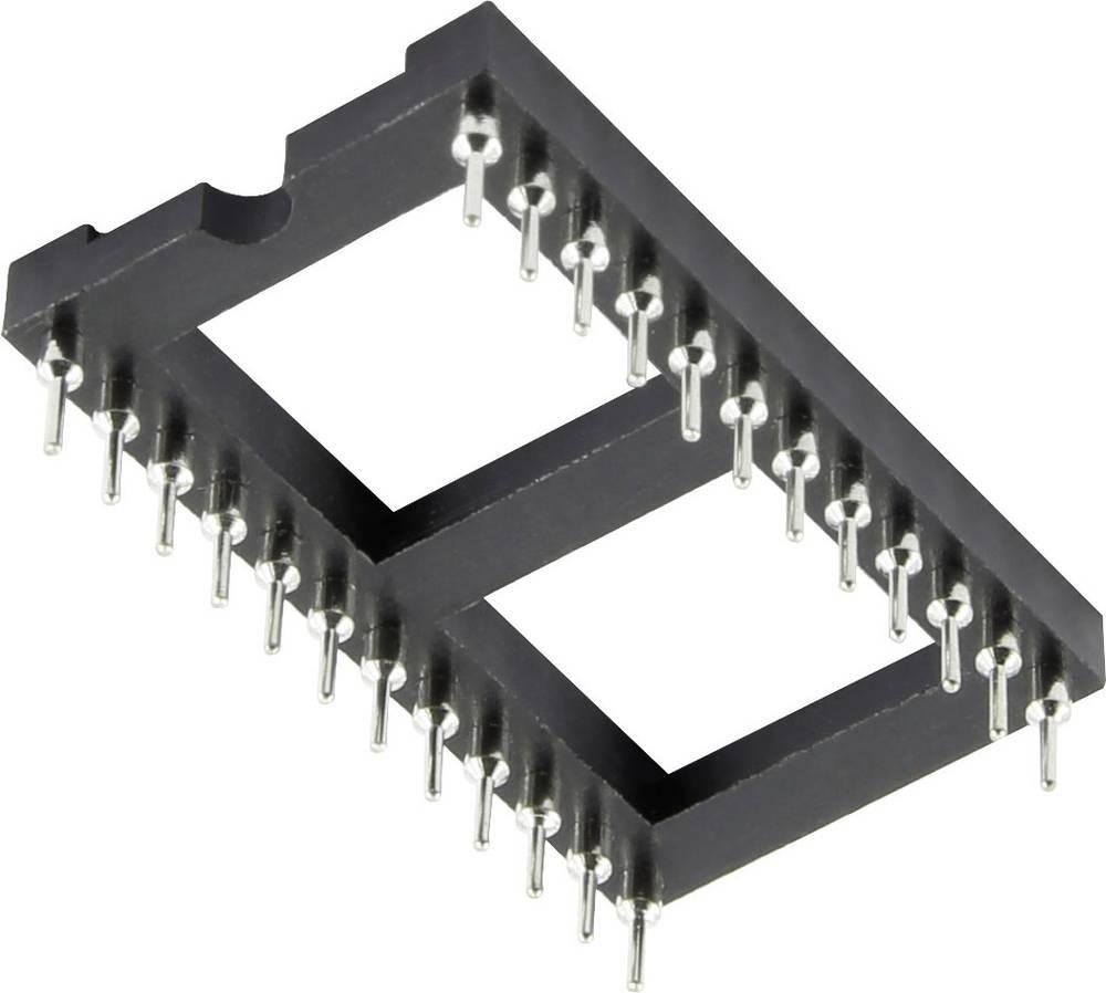 IC podnožje 15.24 mm št. polov: 28, 1 kos