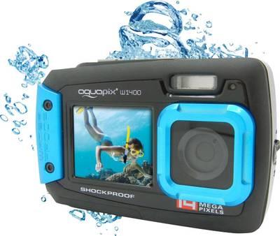 Image of Digital camera Easypix W-1400 14 MPix Black/blue Dustproof, Underwater camera, Front display