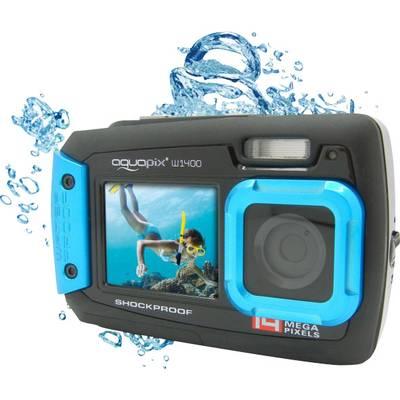 Image of Easypix W-1400 Digital camera 14 MP Black, Blue Dustproof, Underwater camera, Front display