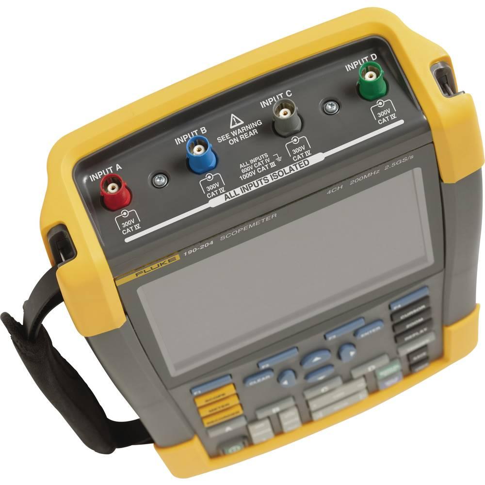 Ručni osciloskop (Scope-Meter) Fluke Fluke 190-204/UN/S 200 MHz 4-kanalni ručni uređaj, digitalna memorija (DSO), funkcije multi