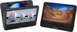 Nakkestøtte DVD-afspiller med 2 skærme Denver MWT-756 TWIN NB Skærmstørrelse=17.8 cm (7 )