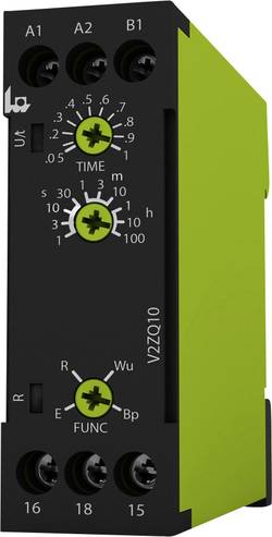 Tidsrelæ tele V2ZQ10 24-240V AC/DC Multifunktionel 0.05 s - 100 h 1 x skiftekontakt 1 stk
