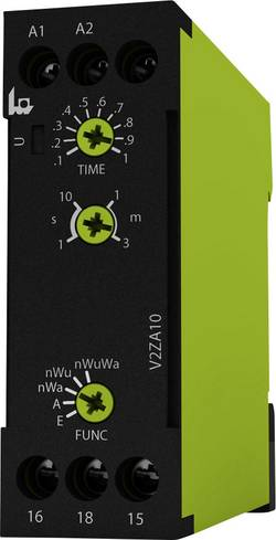 Tidsrelæ tele V2ZA10 3MIN 24-240V AC/DC Multifunktionel 0.1 s - 3 min 1 x skiftekontakt 1 stk