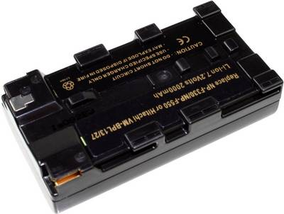Image of Camera battery Connect 3000 replaces original battery NP-F550 7.4 V