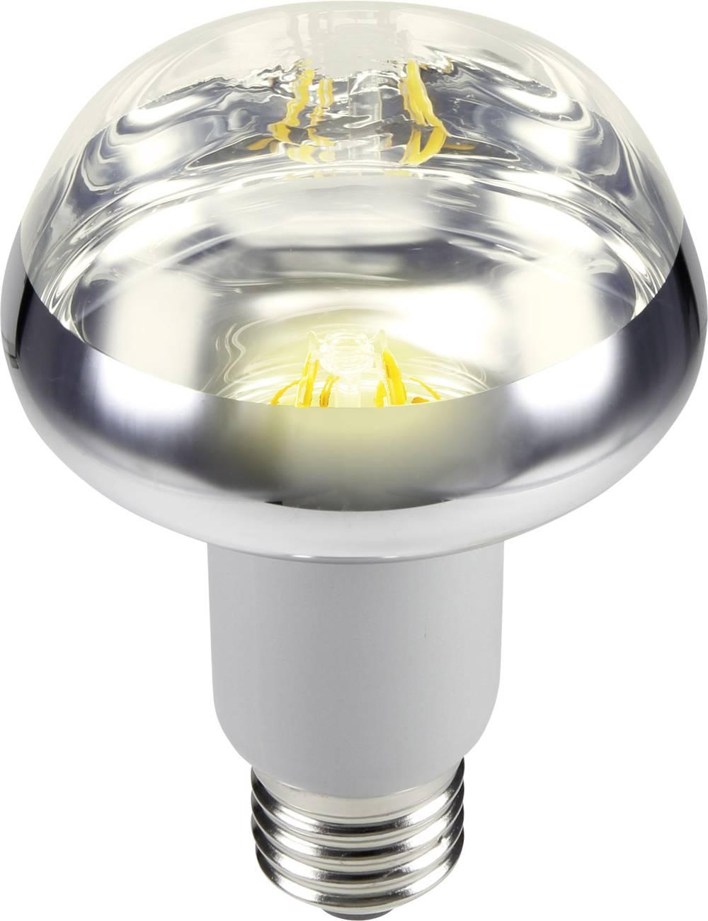 LED žarnica E27 reflektorska 5.5 W = 42 W topla bela (premer x D) 80 mm x 117 mm EEK: A Sygonix filament 1 kos