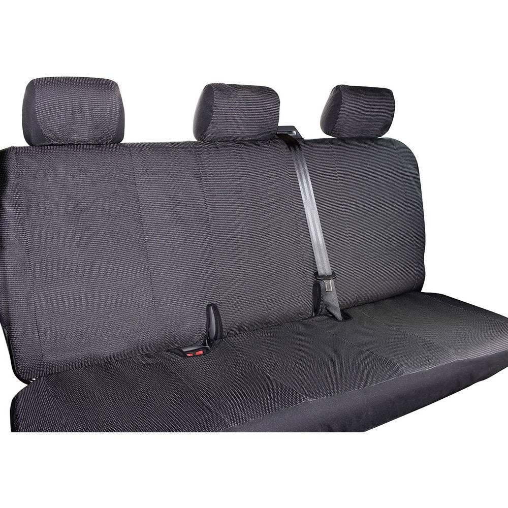 Sædebetræk til VW T5 3-personers sæde dobbelt Eufab T5 3-er Sort 1 Set