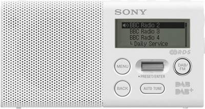 Image of Sony XDR-P1DBP DAB+ Pocket radio DAB+, FM Battery charger, rechargeable White