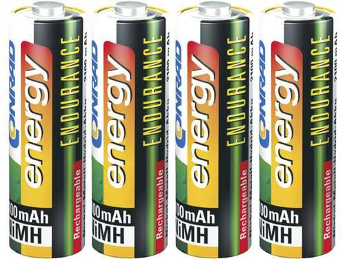 Conrad energy Endurance HR06 Oplaadbare AA batterij (penlite) NiMH 2600 mAh 1.2 V 4 stuks