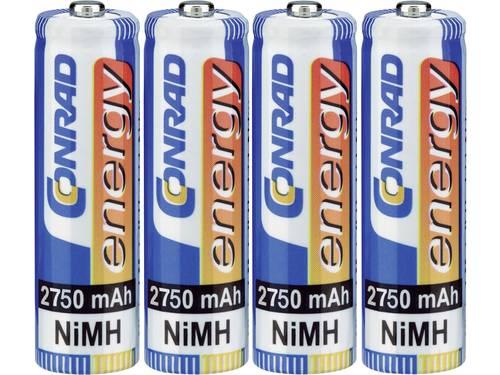 Conrad energy HR06 Oplaadbare AA batterij (penlite) NiMH 2750 mAh 1.2 V 4 stuks